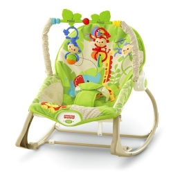 Fisher Price vibro kėdute – Infant to toddler rocker Rainforest