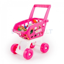 Pirkinių vežimėlis su produktais