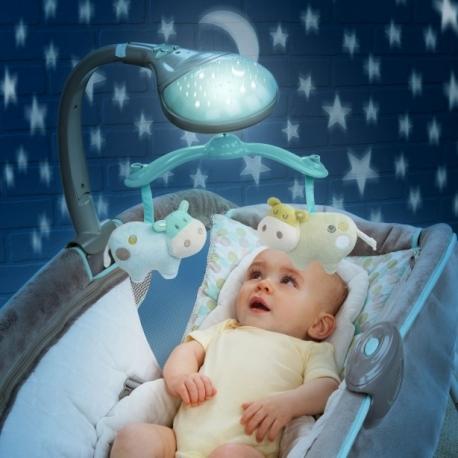 Bright Starts lopšys - gultukas Deluxe su karusele