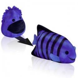 Minkštas keičiantis pavidalą žaislas Blobbie