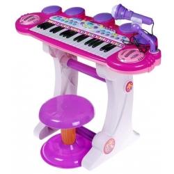 Vaikiškas pianinas su kedute ir mikrofonu