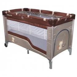 Maniežas  - kelioninė lovytė su 2 dugnais (120x60)
