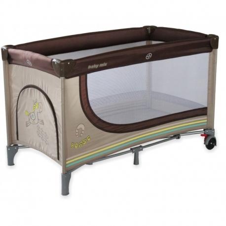 Maniežas - kelioninė lovytė Brown su 2 dugnais (120x60)