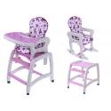 Maitinimo kėdutė–transformeris Purple Flower 3in1