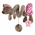 Pakabinamas žaislas - spiralė Peliukas Pink