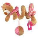 Pakabinamas žaislas - spiralė Meškiukas Pink