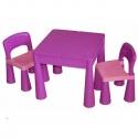 Stalas su 2 kėdutėmis Mamut Violet