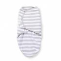 Vystyklas - kokonas kūdikiui SwaddleMe Grey Stripe (S dydis: 3,2 kg iki 6,4 kg)