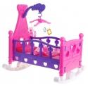 Lėlės lovytė su lingėmis ir pataliukais