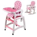 Maitinimo kėdutė–transformeris Pink su lingėmis
