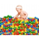 Spalvoti plastikiniai kamuoliukai