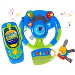 Muzikinis žaislinis vairas su priedais