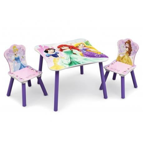 Medinis staliukas ir kėdutės Disney Princess