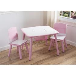Staliukas ir dvi kėdutės Pink