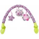 Muzikinis lankas su žaisliukais Owl Pink