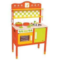 Vaikiška medinė virtuvėlė Gourmet su priedais