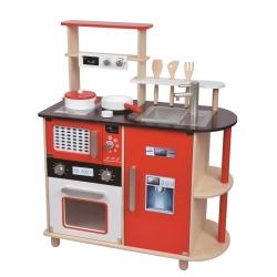 Vaikiška medinė virtuvėlė Modern su priedais