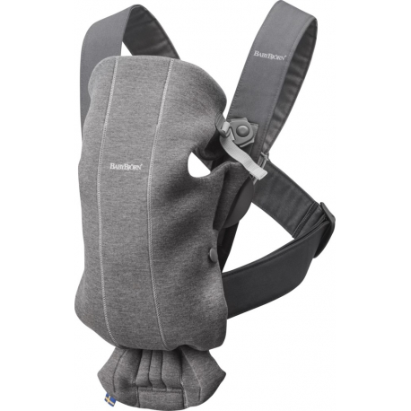 BabyBjorn Mini Dark Grey Jersey nešynė