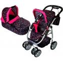 Vaikiškas vežimėlis lėlėms Belly Multicolor