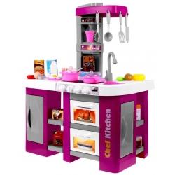 Daugiafunkcine virtuvėlė Pink su garsais ir tikru vandenuku