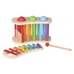 Medinis muzikinis žaislas 2in1