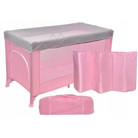 Maniežas Pink/Grey su apsauga nuo uodų