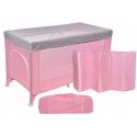 Maniežas Multi Pink/Grey su apsauga nuo uodų