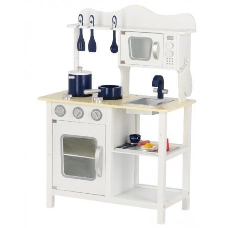 Medinė virtuvėlė Classic White su priedais