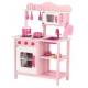 Medinė virtuvėlė Classic Pink su priedais