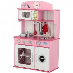 Medinė virtuvėlė Sofia Pink su aksesuarais