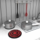 Medinė virtuvėlė Sofia White su aksesuarais