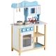 Medinė virtuvėlė Blue su priedais