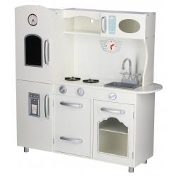 Vaikiška medinė virtuvėlė Retro su šaldytuvu