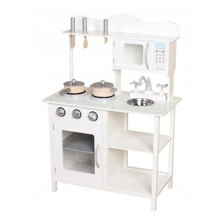 Medinė virtuvėlė White su priedais