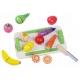 Medinis pjaustomų daržovių  ir vaisių rinkinys Multi su padėklu