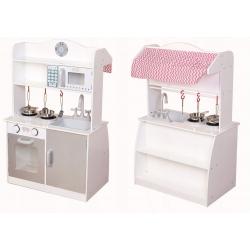 Medinė virtuvėlė  - parduotuvėlė 2in1