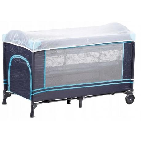 Maniežas  - kelioninė lovytė su 2 dugnais Multi Dark Blue