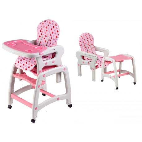 Maitinimo kėdutė–transformeris Pink 2in1