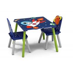 Staliukas su dviem kėdėm Kosmosas