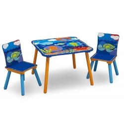Medinis staliukas su dviem kėdutėm Vandenynas