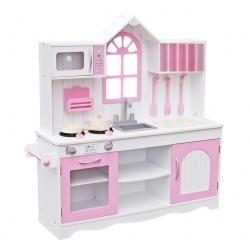 Vaikiška medinė virtuvėlė Retro Pink