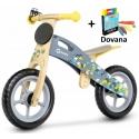 Medinis balansinis dviratis Casper Grey + DOVANA