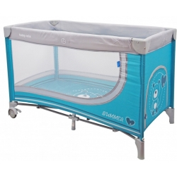 Maniežas - kelioninė lovytė Bears Blue (120x60)