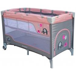 Maniežas - kelioninė lovytė su 2 dugnais Elephant Pink