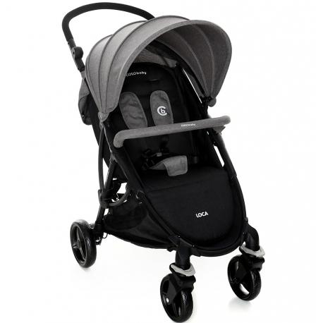 Coto Baby  vežimėlis LOCA Linen Grey