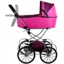 Vaikiškas lopšinis lėlių vežimėlis Alice