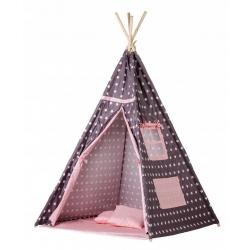 Palapinė vaikams su kilimėliu ir pagalvėlėmis Wigwam Pink Stars