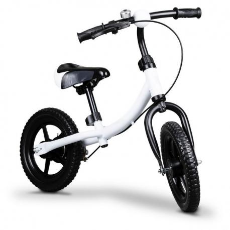Balansinis dviratukas Funny White su skambučiu