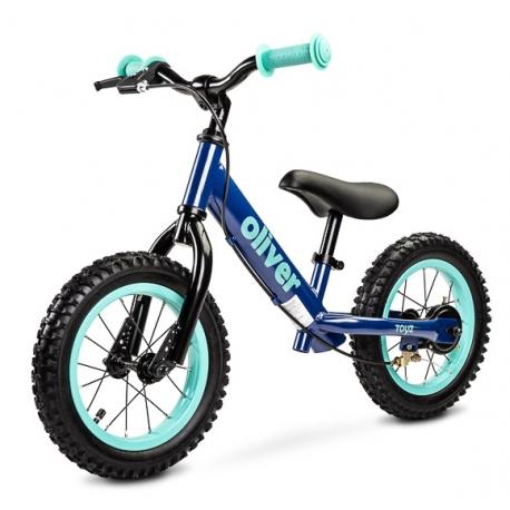 Balansinis dviratukas su stabdžiu Oliver Navy