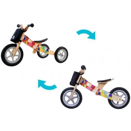 Medinis triratukas - balansinis dviratukas Mosaic 2in1